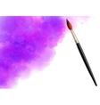 Purple watercolor cloud with realistic vector image vector image