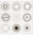Sunburst Shapes vector image
