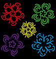 a set of schematic colors vector image