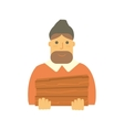 Bearded man lumberjack vector image