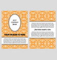 brouchure with orange vintage arabic pattern vector image