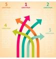 Five retro different way infographics vector image