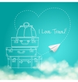 flying paper plane around travel vector image