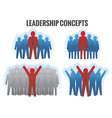 Leadership concepts vector image