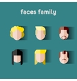 Person family Simple icons vector image