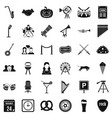 Session icons set simple style vector image