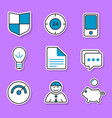 the set of exclusive icons in the paper style for vector image