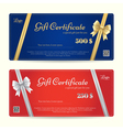 Elegance gift card or gift voucher template vector image