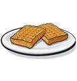 baked homemade waffles vector image vector image