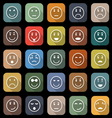 Circle face flat icons with long shadow vector image