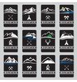 mountain cards set vector image