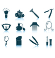 Set of barber icons vector