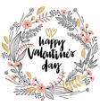 Valentines day wreath vector image