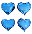 Blue hearts vector image vector image