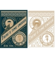 Vintage card design with gentelman detail vector image