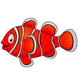 clown fish cartoon vector image