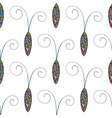 abstract stylized cockroaches pattern hand drawn vector image