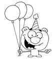 Birthday teddy bear cartoon vector image