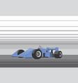 blue race car vector image