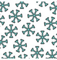 christmas snowflakes winter seamless pattern vector image