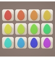 Flat Icons Easter Eggs vector image