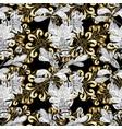 golden mehndi seamless pattern ornamental floral vector image