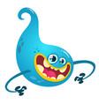 happy cartoon ghost vector image