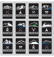 mountain cards set vector image