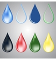 paint and water drops vector image