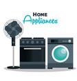 set home appliances icons vector image