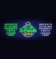 st patricks day is a neon sign symbol logo with vector image