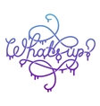 Whats Up lettering vector image