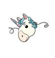 mask cute unicorn vector image