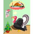 Turkey before Christmas vector image