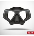 Underwater diving scuba mask vector image