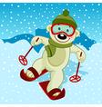 polar bear skier vector image