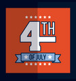 4th of july image vector image