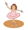 ballerina vector image