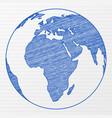 drawing world globe vector image