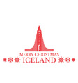 Greeting Card Iceland vector image