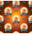Halloween seamless pattern with moon scary faces vector image