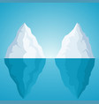 iceberg on blue background with sunlight vector image