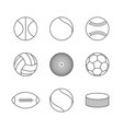 Icons balls vector image