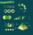 infographic elements with chart and layout vector image