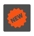 New Tag Rounded Square Button vector image