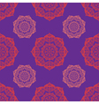 Round mehndi pattern vector image