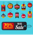 super sale extra bonus red banners text label vector image