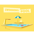 Swimming pool with a diving board Cartoon vector image