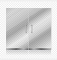 Transparent glass door isolated vector image vector image