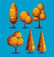 autumn plants set vector image